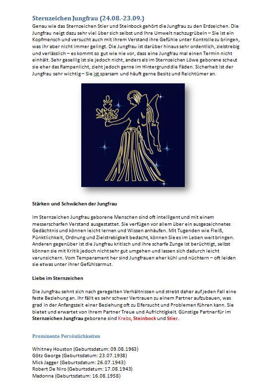 horoskop jungfrau liebe